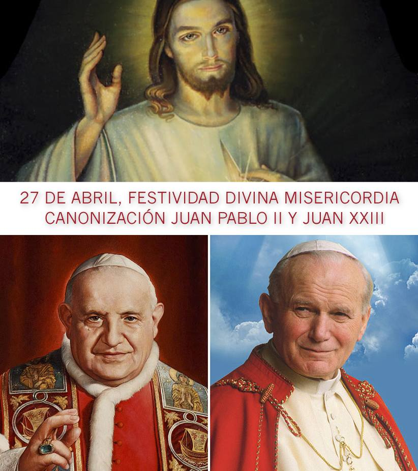 papas juan XXIII juan pablo segundo canonizacion
