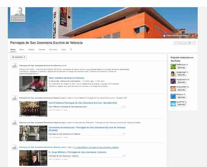 parroquia san josemmria videos youtube