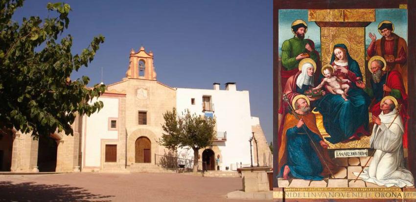 Ermita de Nuestra Señora de la Misericordia (Vinaroz) y La Virgen del Remedio. Pere Nunyes. Exposición Luz de las Imágenes (Benicarló).