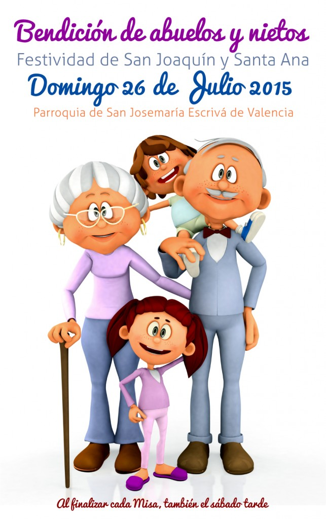 3D kids with grandparents