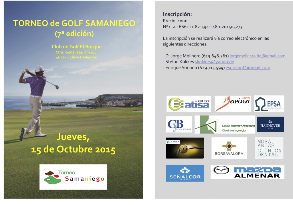 Torneo Golf Samaniego 2015