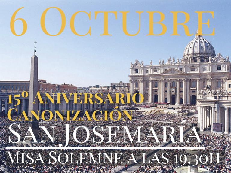 aniversario canonizacion san josemaria